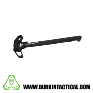 Laser Engraved Ambidextrous Charging Handle | Zombie Hunter | Black | C41