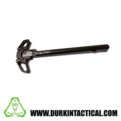 Laser Engraved Ambidextrous Charging Handle   We The People   Black   C25