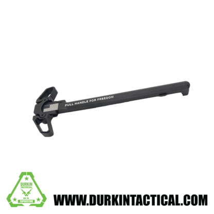 Laser Engraved Ambidextrous Charging Handle   Pull For Freedom   C10