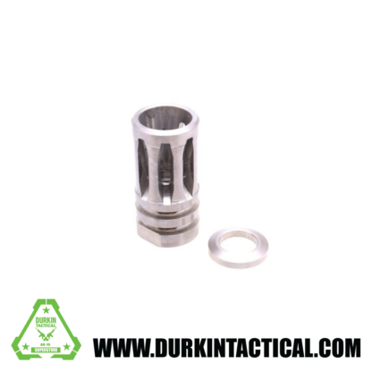"""A2 Flash Hider for 1/2""""x28 Pitch - 5 Ports - Stainless"""
