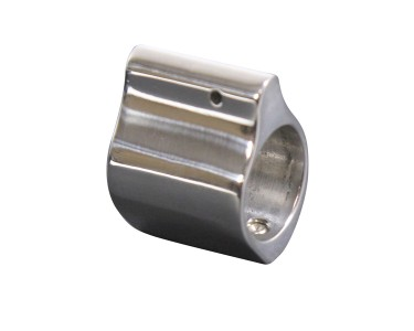 .750 AR-15 POLISHED STAINLESS STEEL LOW PROFILE GAS BLOCK