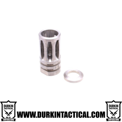 "A2 Muzzle Brake For 1/2""X28 Pitch - 5 Ports - Stainless"