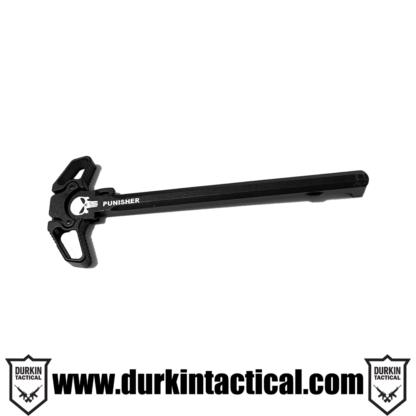 Laser Engraved Charging Handle | Punisher Flag