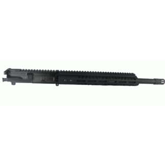 AR-15 Complete Upper Assembly, 16″ 4150 Parkerized Heavy Barrel, .450 Bushmaster, Carbine Length Gas System, 1-24 Twist W: 12″ MLOK