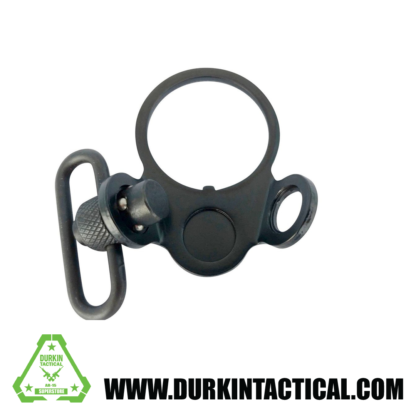 AR-15 Ambidextrous dual two loop Receiver End Plate with QD Swivel