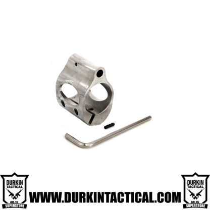 Low Profile Micro Block 0.75 Inch Stainless Steel Gas Block