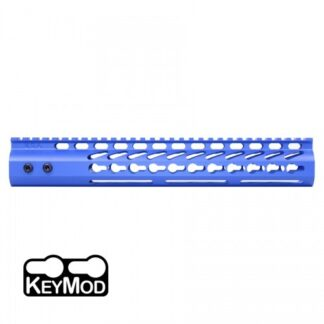 "American Made 12"" Ultra Lightweight Thin Keymod Free Floating Handguard with Monolithic Top Rail (Blue)"