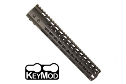 """American Made 12"""" Ultra Lightweight Thin Keymod Free Floating Handguard with Monolithic Top Rail"""