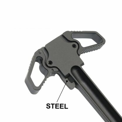 AR-10 DUAL AMBIDEXTROUS CHARGING HANDLE WITH STEEL LATCH - TOP