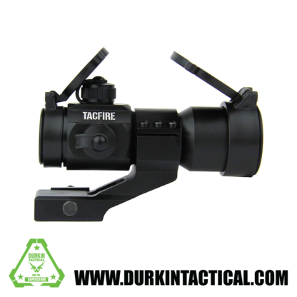TACFIRE 1 x 30mm Tactical Dot Rifle Scope Sight with Cantilever Weaver Mount, Red/Green