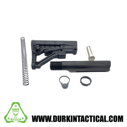 AR-15 Adjustable Stock w/ Collapsible Buffer Tube Kit - 6 piece - ST003+ST007