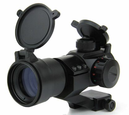 TACFIRE 1 x 30mm Tactical Dot Rifle Scope Sight with Cantilever Weaver Mount, Red:Green1