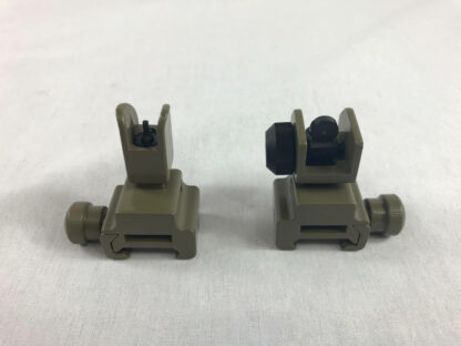 Sight - Front & Rear Flip Up FDE