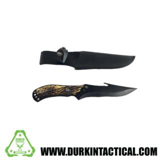 KNIFE, HOOK W/SHEITH. BLACK