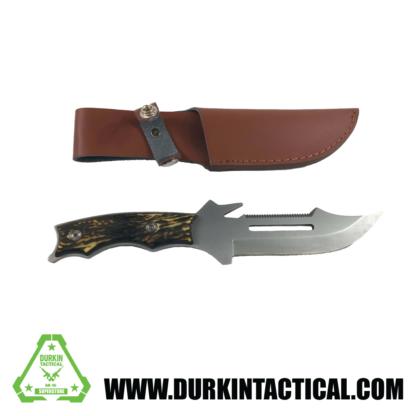 KNIFE, SAW TOOTH W/SILVER