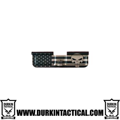 Laser Engraved Ejection Port Dust Cover - Big Punisher Flag