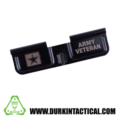 Laser Engraved Ejection Port Dust Cover - Army Veteran