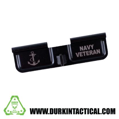 Laser Engraved Ejection Port Dust Cover - Navy Veteran