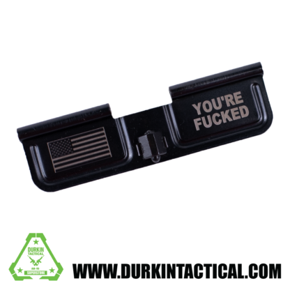 Laser Engraved Ejection Port Dust Cover - Flag, You're Fed