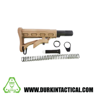 AR-15 Adjustable Stock w/ Collapsible Buffer Tube Kit - 6 piece - ST003+ST007 - Tan