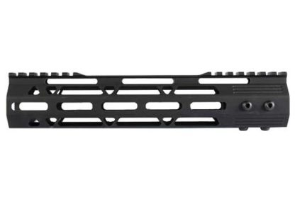 Pro Series - Made in USA - 10 MLok Free Float Rail with Top Rail Relief-barrel Nut included-Black