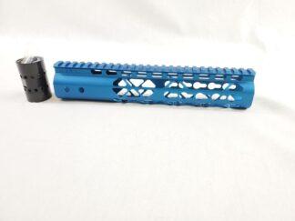 10″ AIR LITE KEYMOD FREE FLOATING HANDGUARD WITH MONOLITHIC TOP RAIL (Blue)