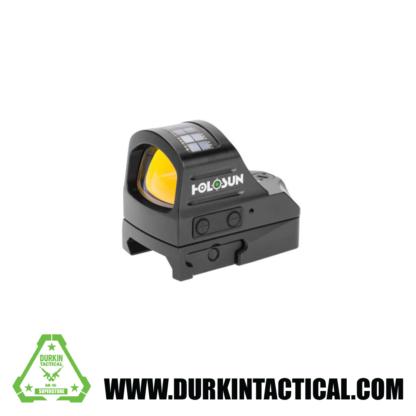 Holosun HE407C Solar Sight, 2 MOA Dot Reticle, Color: Black, Battery Type: CR2032
