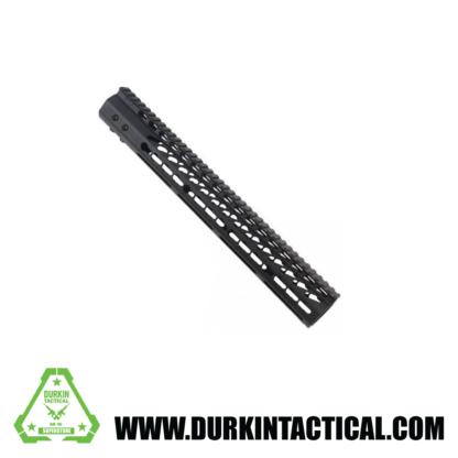 "GUNTEC USA 15"" .308 Ultra Thin Key Mod Free Floating Handguard w/ Monolithic Top Rail"