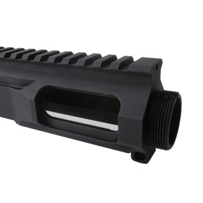 AR-9 ENHANCED 9MM AR-15 BILLET UPPER RECEIVER - BLACK Front