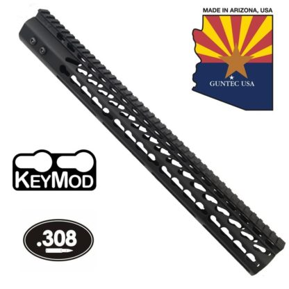 Guntec GT-16.5JK-308 16.5 ULTRA LIGHTWEIGHT THIN KEY MOD FREE FLOATING HANDGUARD WITH MONOLITHIC TOP RAIL (.308 CAL)