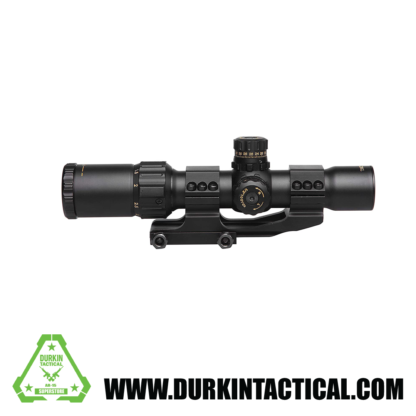 Sniper NT1-4X28 GL Rifle Scope, Glass Reticle, R/G Illumination, Ring Mounts and Flip Cap Included