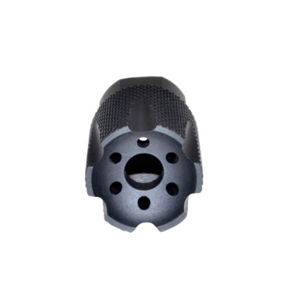 "1-2""x28 Muzzle Brake for AR-15, Aluminum. No jam nut or crush washer Front"