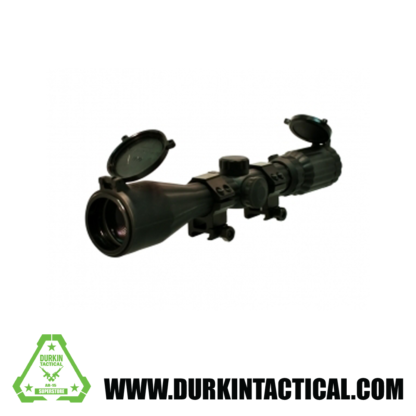 """Sniper 1"""" 3-9x40LR Full Size Rubber Coated Rifle Scope, R/G Illuminated Mil-Dot Reticle"""