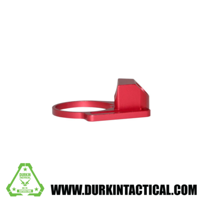 Aluminum Receiver End Plate with 1″ Sling Adapter for AR .223/5.56/.308 Buffer Tubes, Red