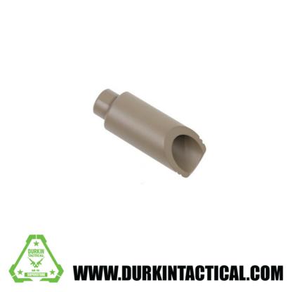 GUNTEC AR-15 SLANT NOSE FLASH CAN (FDE)