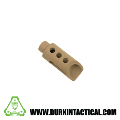 Guntec AR-15 SLANT NOSE MUZZLE DEVICE (Side cut)FDE)