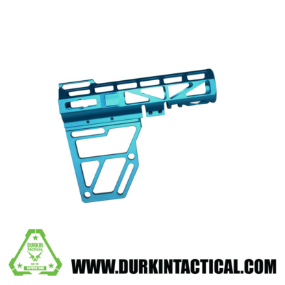 Skeletonized AR Pistol Brace - BLUE