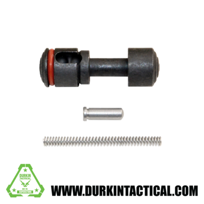 Push Button Safety for 223/308 with Pin and Spring, Black Carbon Steel