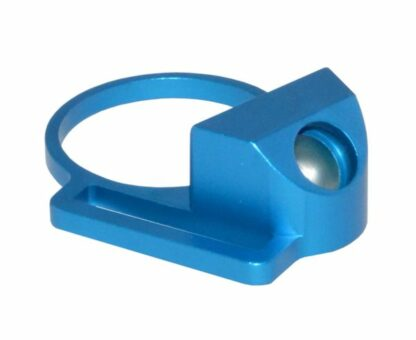 Aluminum Receiver End Plate with 1 Sling Adapter for AR .223:5.56:.308 Buffer Tubes, BLUE Angle
