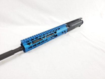 BLUE- ColorRUSH series 5.56 upper: build kits Angle