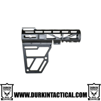 Skeletonized AR Pistol Brace - BLACK