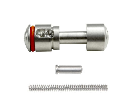 Push Button Safety for 223:308 with Pin and Spring, Stainless Steel