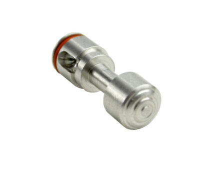 Push Button Safety for 223:308 with Pin and Spring, Stainless Steel Angle