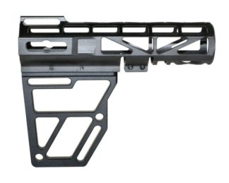 Skeletonized AR Pistol Brace - BLACK Brace