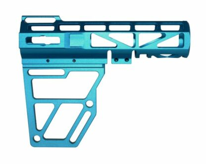 Skeletonized AR Pistol Brace - BLUE