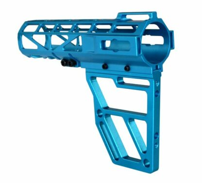 Skeletonized AR Pistol Brace - BLUE Back