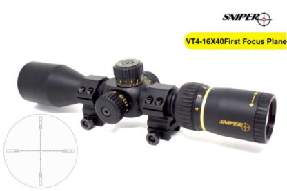 Sniper VT 4-16x40 Mfpsa First Focal Plane Rifle Scope Side Parallax Adjustment