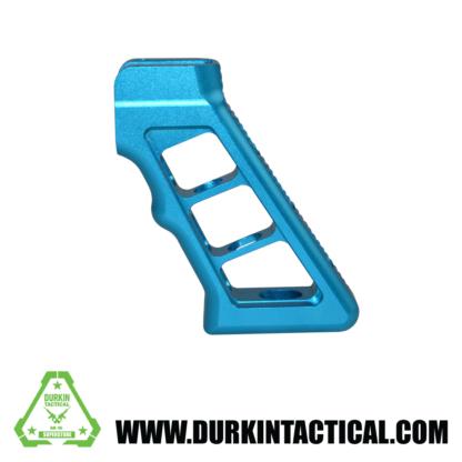 AR Skeletonized Rear Pistol Style Grip, Blue Anodized Aluminum