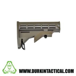 Mil-Spec Adjustable Stock w/ Sling Adapter, Green