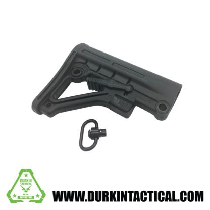 Mil-Spec Adjustable Stock w/ QR Sling Adapter - Black